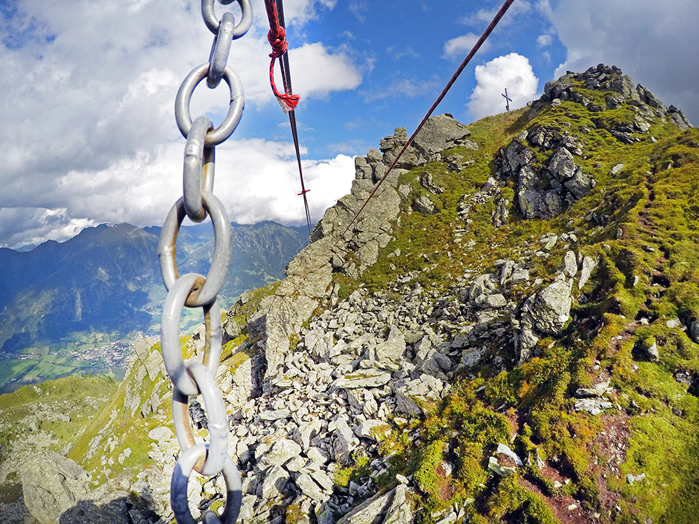 Flying Fox beim Klettersteig in Gastein