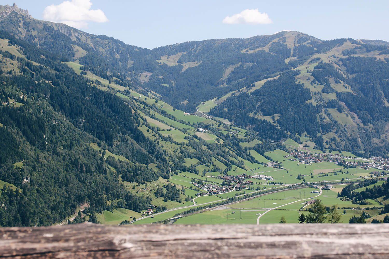 Amoseralm Ausblick auf Dorfgastein