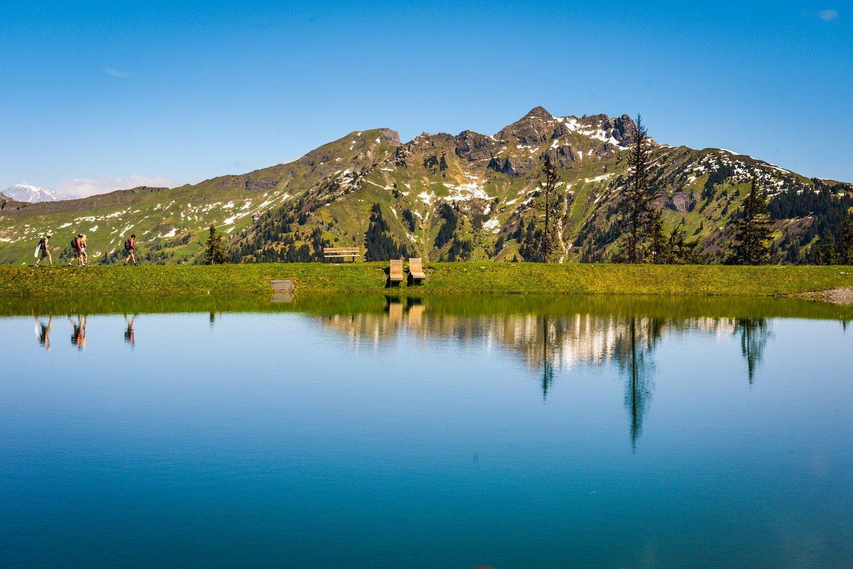 Wanderung am Spiegelsee in Dorfgastein