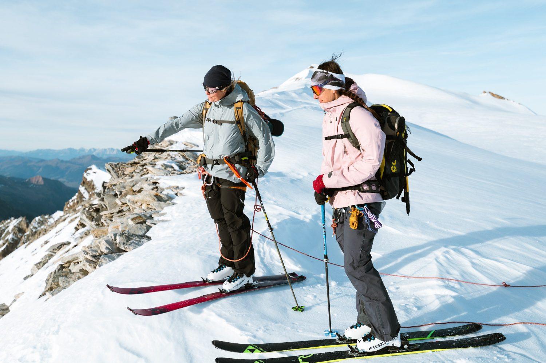 Frauen Skiport am Berg