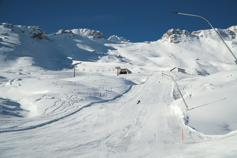 Sonnige Piste im Skigebiet Schlossalm-Angertal-Stubnerkogel