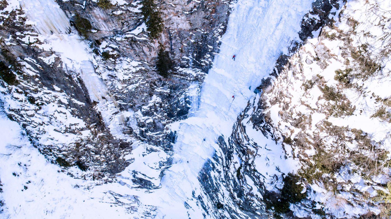 Eisklettern am Mordor in Gastein
