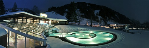 Becken Solarbad Winter
