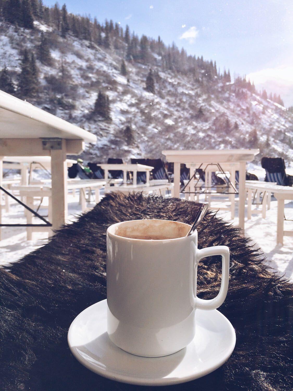 Kaffeepause nach dem Langlaufen in Sportgastein