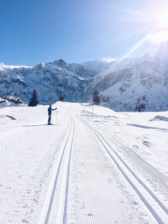 Langlaufen auf Höhenloipe in Sportgastein