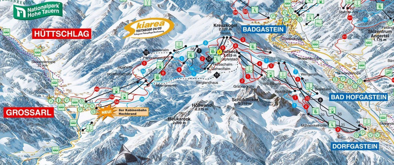 Karte des Skigebietes Dorfgastein