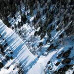Luftbild der Pisten am Graukogel
