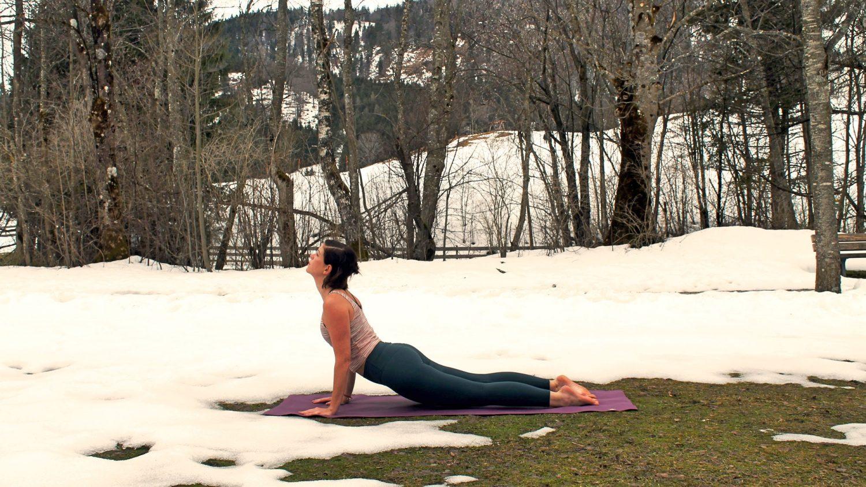 Yogaübungen im Frühling, Foto: Kristina Erhard