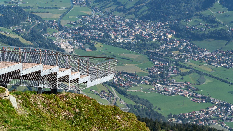 Blick von der Plattform Talblick auf Bad Hofgastein