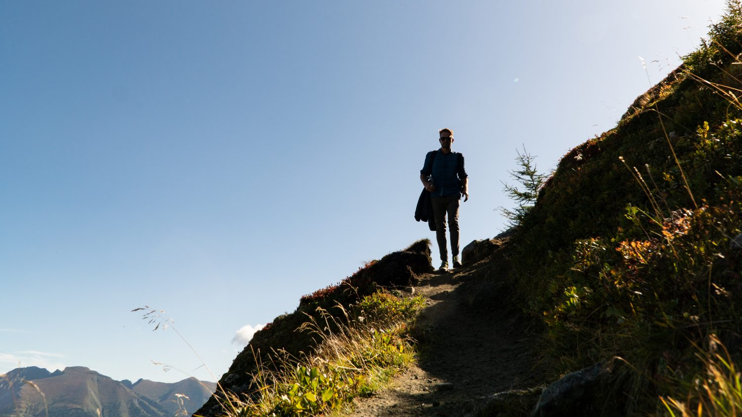 Wanderer am Gastein Trail