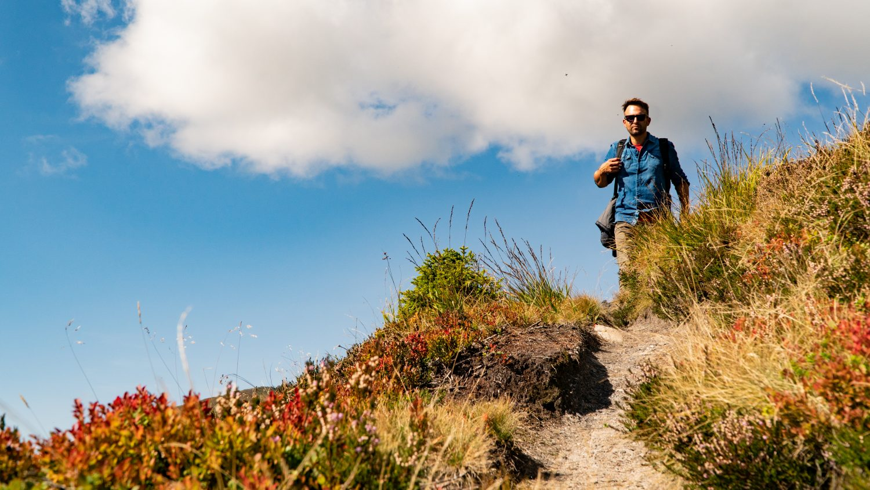Wanderer am Gastein Trail