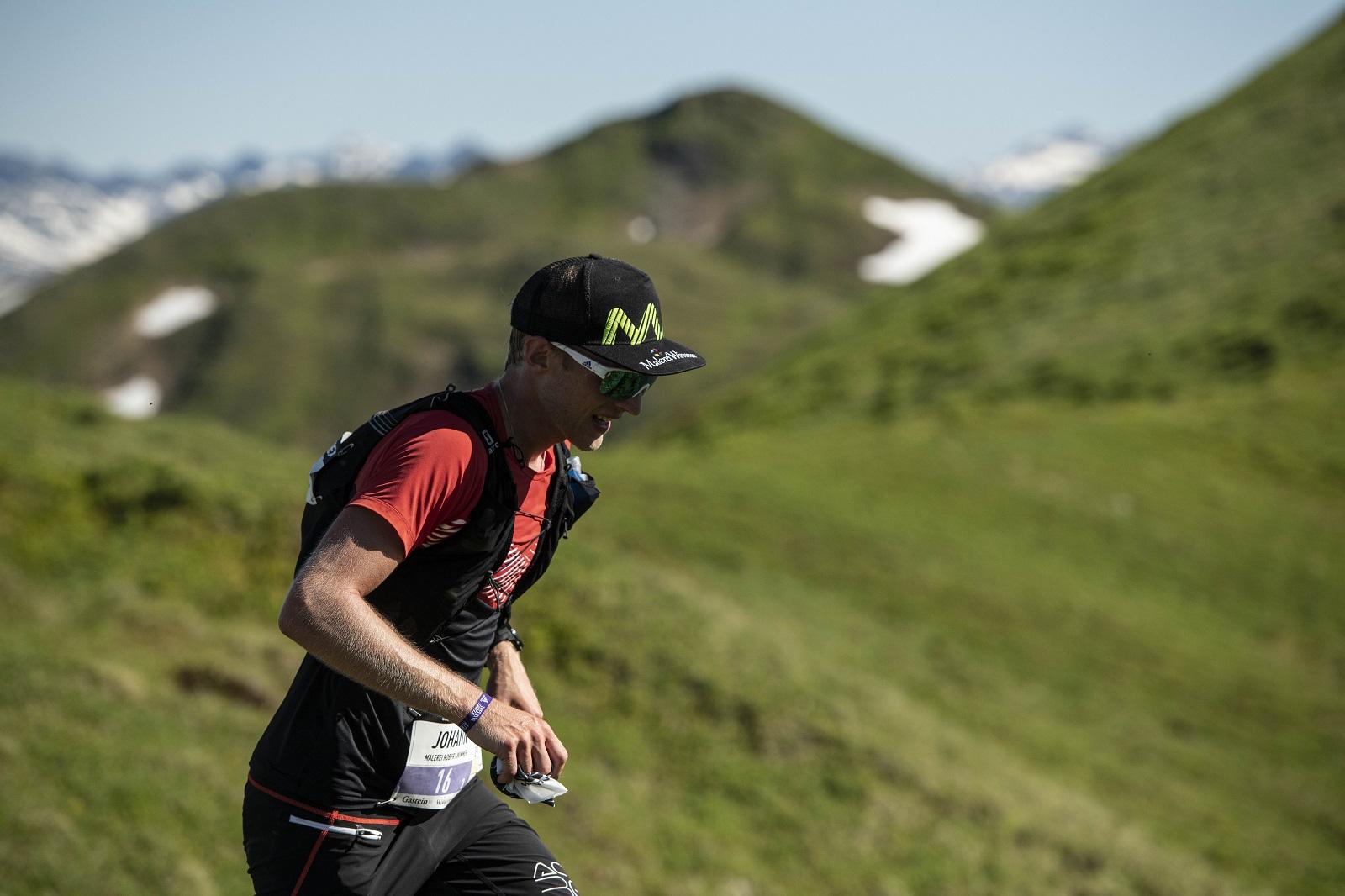 Schlussläufer Johann Stuhler läuft am Berg