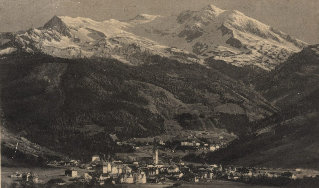 historischer Blick von Bad Hofgastein nach Bad Gastein