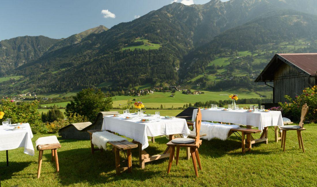 Aussicht bei der Kulinarischen Hofwanderung in Bad Hofgastein