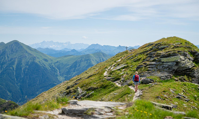 Gastein Trail - Wanderer am Stubnerkogel