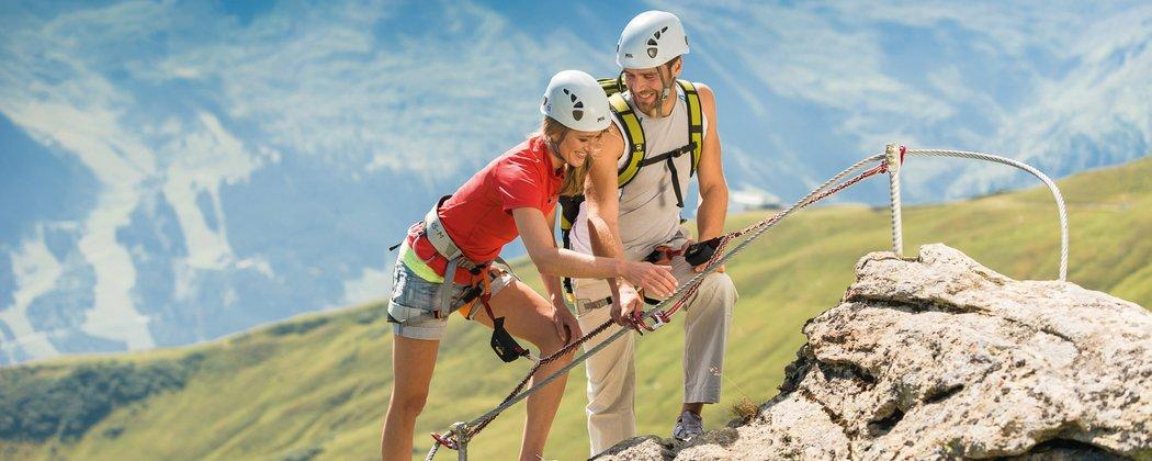 Gruppe am Klettersteig in Gastein