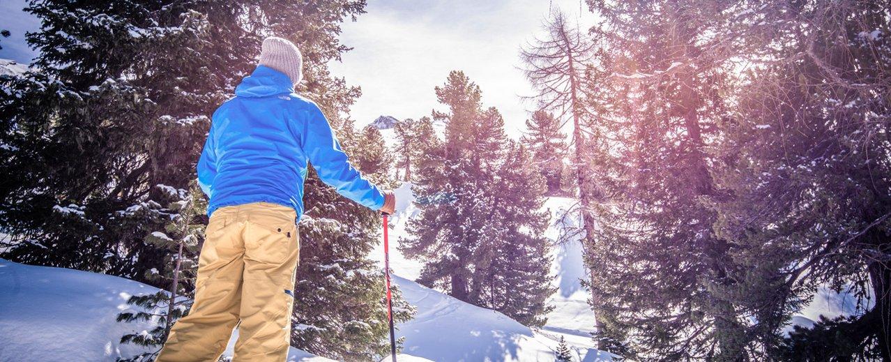 Schneeschuhwanderer im Gasteinertal