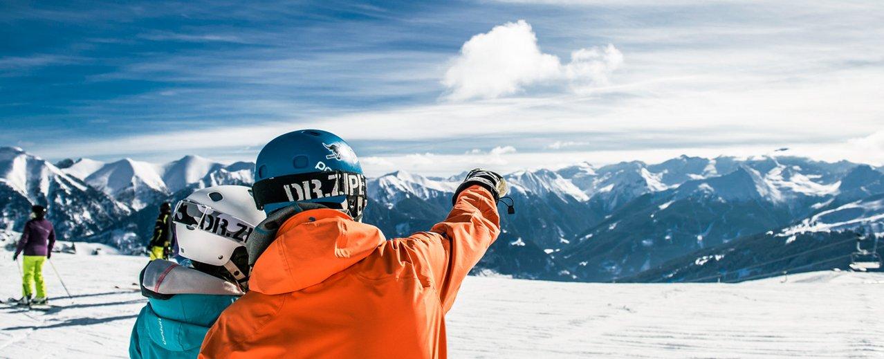 Skifahrer in Gastein