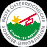 """Qualitätsgütesiegel """"Ausgezeichnete Österreichische Sommerbahnen"""""""